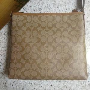 Coach Bags - NWT COACH Signature Varsity Stripe File Bag F38402